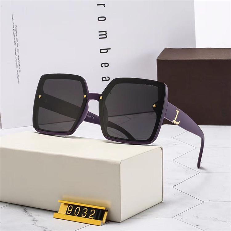 Lüks Tasarımcı Güneş Gözlüğü Moda Erkek Kadın için En Kaliteli Güneş Gözlükleri Polarize UV400 Lensler Deri Kılıf Bez Kutu Aksesuarları