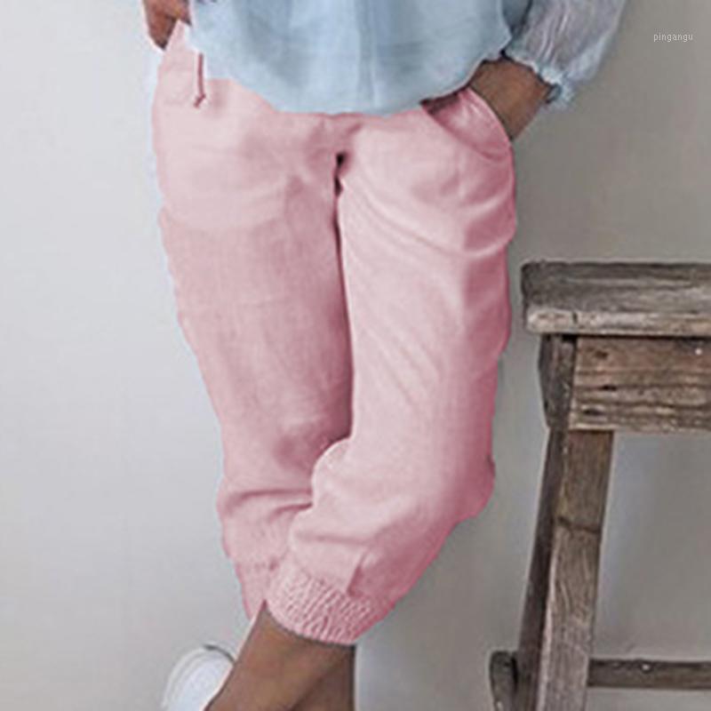 Kadın Pantolon Bayanlar Pantolon Sonbahar Artı Boyutu Harem Moda Capri Joggers Yüksek Bel Gevşek1