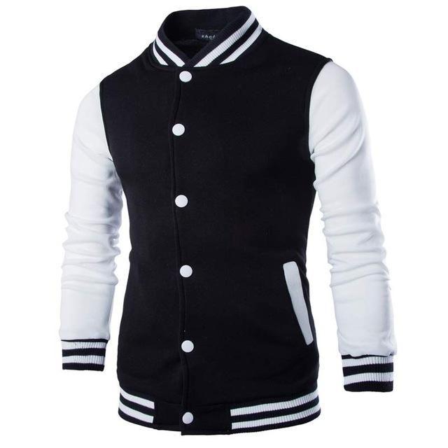 Новые Мужчины / Мальчик Бейсбольная Куртка Мужчины Мода Дизайн Вина Красный Мужской Тонкий Fit Колледж Вариационная Куртка Мужчины Весена Homme 3XL