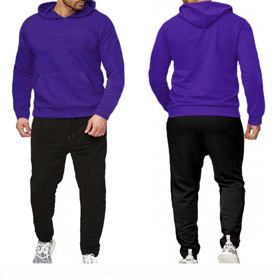2020 Mens Designer Tracksuit 슈트 여성용 스포츠웨어 2 조각 정장 재킷 후드 + 디자이너 바지 운동복 남성 의류 스포츠