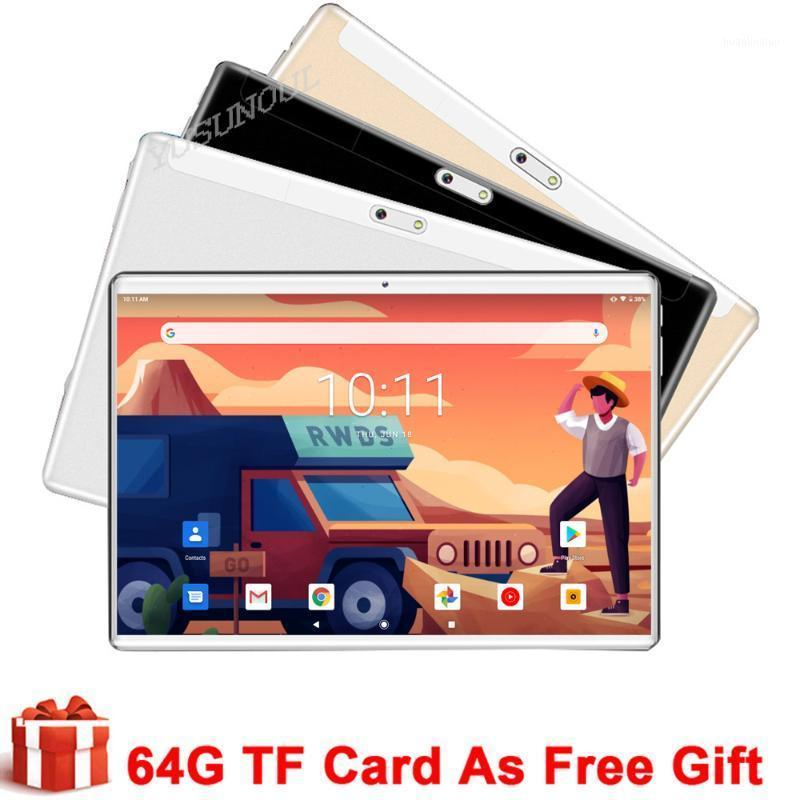 Tablet PC Sales 2.5D Tempered Glass 10 Inch Android 9.0 Google Play 3G Phone Call Tablets WiFi GPS 10.1+FREE GIFTS1