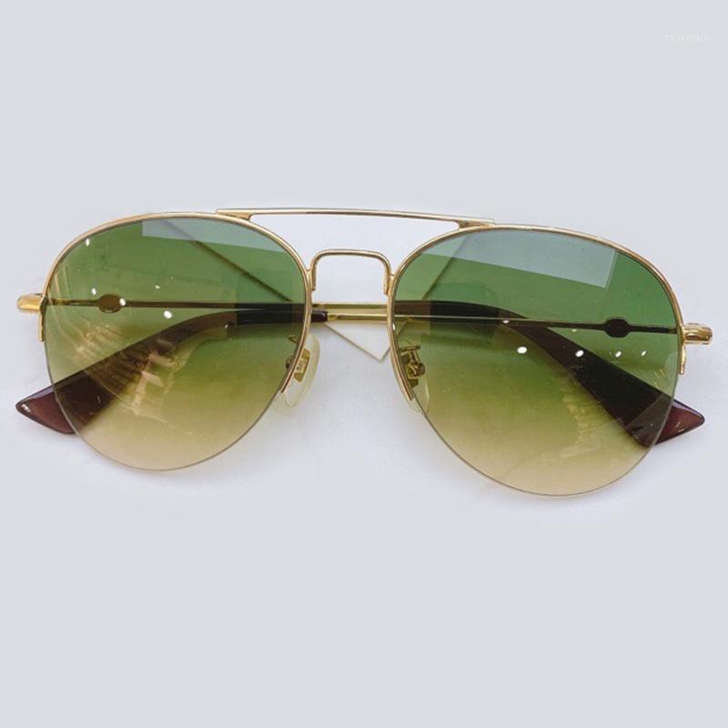 Классические старинные бабочки женщины Солнцезащитные очки Бренд дизайн Металл Половина Солнцезащитные Очки Новые Моды Мужчины Очки Очки с оригинальной Box1