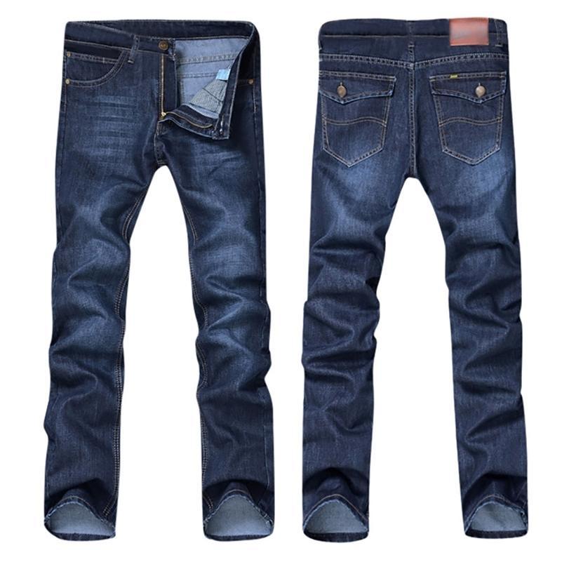 Случайные осенние зимние хлопчатобумажные хип-хоп мужские свободные работы длинные брюки мужчины джинсы брюки тонкий fit denim lj200903