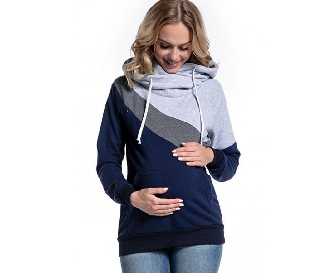 HGTE повседневные толстовки для толстовки для женщин для беременных пуловер грудью для беременных женщин мать грудь кормления грудью вершины 201127
