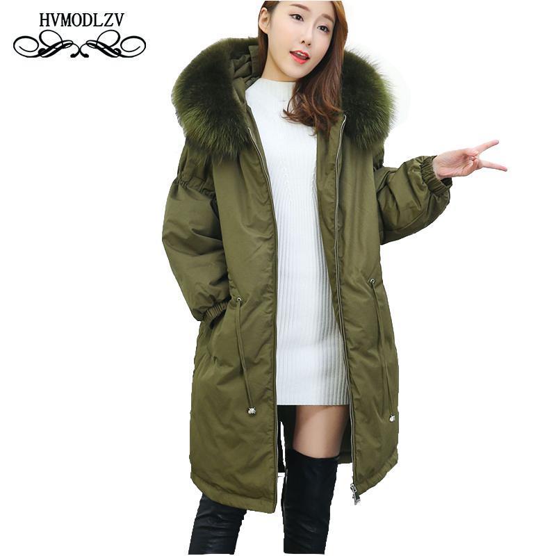 2020 Kış Yeni Artı Boyutu Uzun Aşağı Ceket Kadınlar Casacas Para Mujer Moda Kapüşonlu Kalın Aşağı Ceket Sobretudo Kadın Parka LJ035