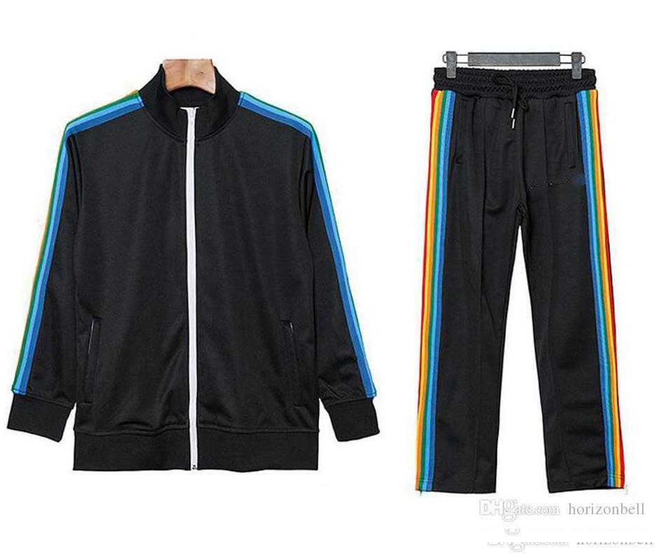 2021 Neue Ankunft Palm gedruckt Angels Designer Trainingsanzüge Männer Frauen Frühling Herbst Trainingsanzug Designer Jacken Schwarz Jogger Sporting Anzug