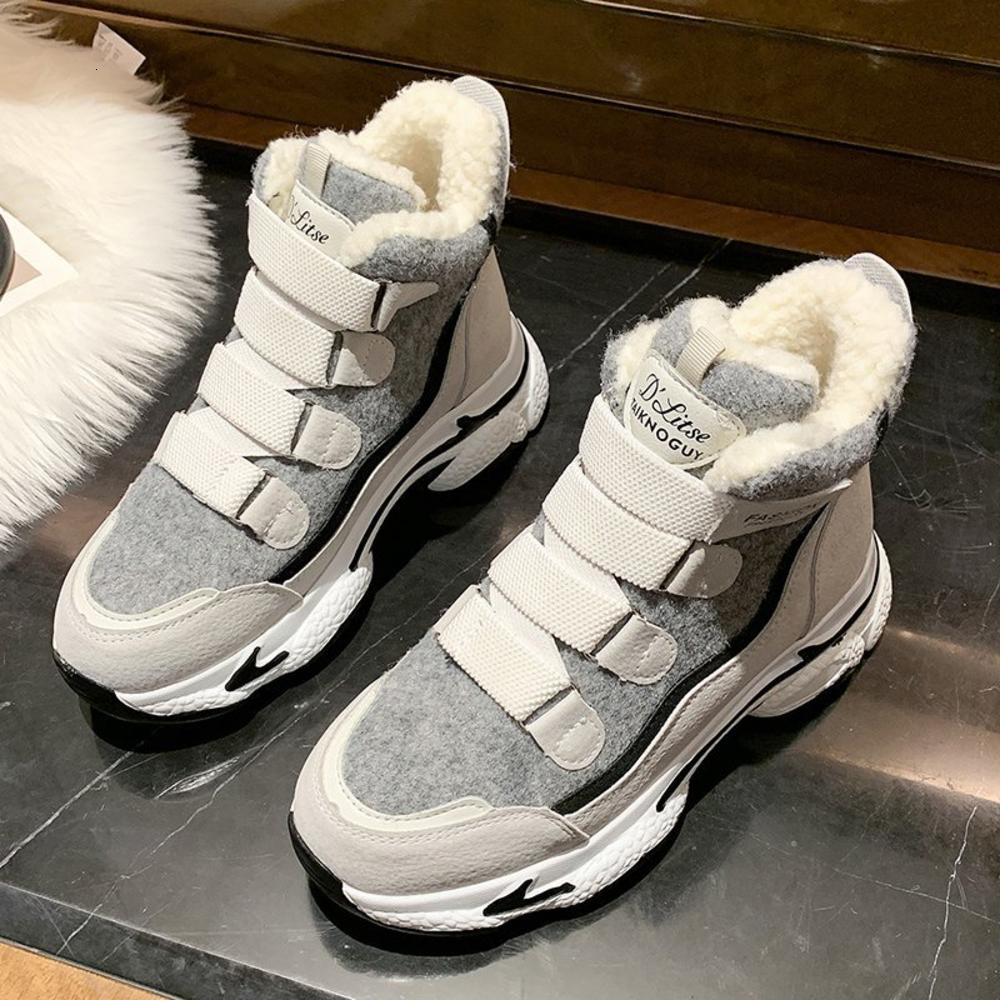 أحذية رياضية مكتنزة الكاحل للنساء 2020 الشتاء الأزياء مبطن الأحذية منصة المرأة إبقاء الأحذية الفتيح الدافئة الرياضة تنيس الإناث