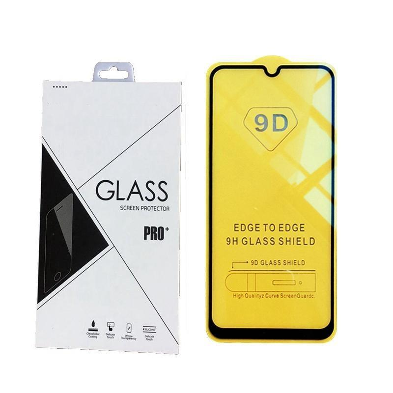 Portada completa 9D 21D Protector de pantalla de cristal templado AB Pegamento para Samsung Galaxy A01 A11 A21 A31 A41 A81 A91 Note 10 Lite S10 Lite 600pcs / Retai
