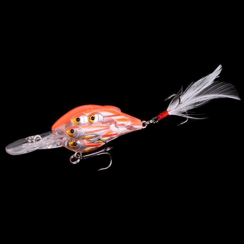 1pcs Trolling Winter Fishing Group Of Fish Bionic Hard Bait 7.8cm 9.4g Artificial Crank Lure Wobbler Rotate Fishing Ge jllgvo