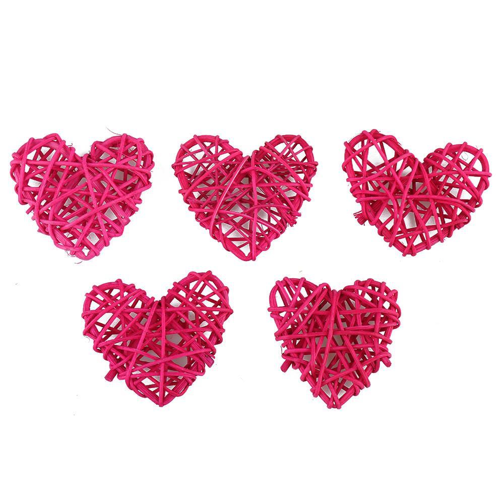 5 шт. / Лот красочные деревянные ротанговые формы сердца Sepak Takraw DIY Rattan Ball Craft Party Decor Sace