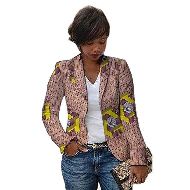 Moda Africana Mulheres Blazers Shawl Collar Design Feminino Dashiki Imprimir Ankara Casacos Personalizados Feito Personalizado África Roupas 201114
