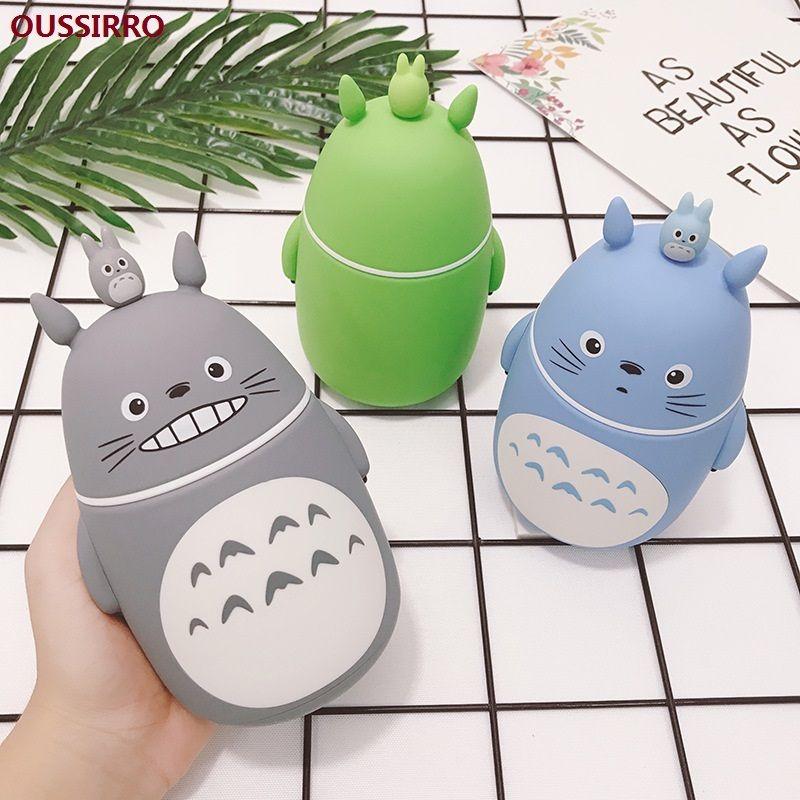Ousirro Moda Creative Double Heat-Resistindo Linda Totoro De Alta Qualidade Vidro Beber Dos Desenhos Animados Estilo De Vidro Garrafas de Água F1217