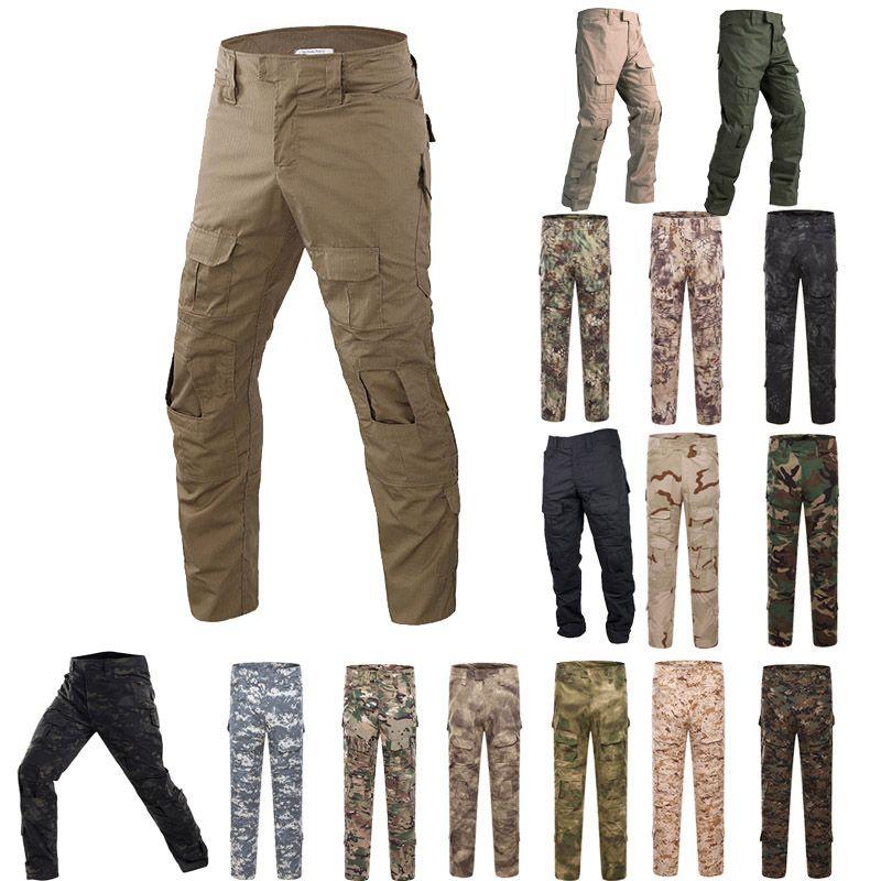 Outdoor Woodland Hunting Shooting Camo Battle Dress Dress Uniform Tactical BDU Army Combat Abbigliamento Pantaloni mimetili P05-007b