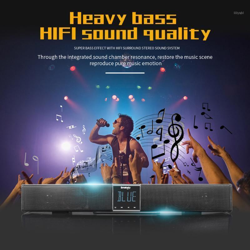 Soundbar 20w Bass Subwoofer Altoparlante Bluetooth Bluetooth Box Musica Speaker portatile wireless con telecomando LCD Display Home / Teatro1