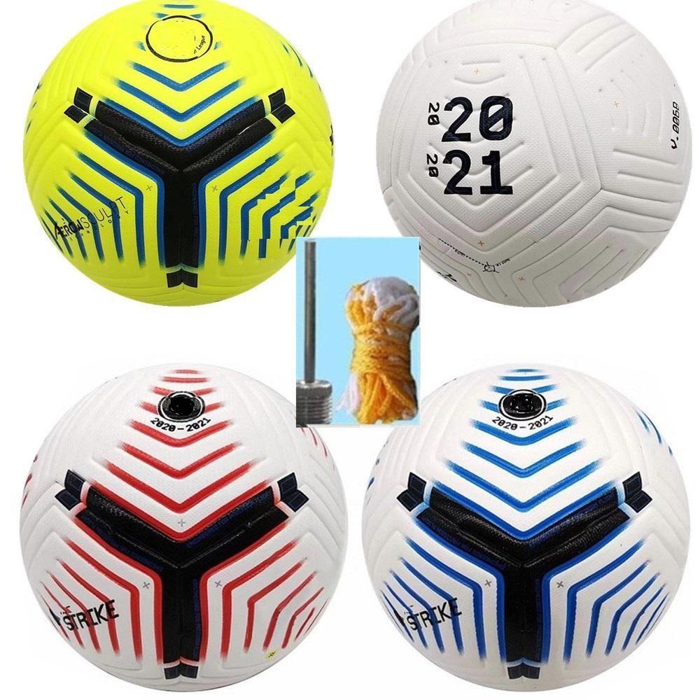 클럽 리그 2020 2021 축구 공 크기 5 고급 NICE 경기 리가 프리미시 결승전 20 21 축구 공 (공기가없는 공)