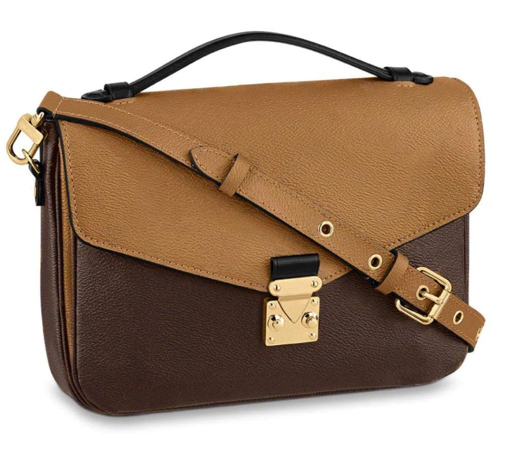 2020 Alta Qualidade Designer Pochette Metis Bobby Genuine Negro Embossed Couro Mulheres Bolsa Bolsas De Ombro Sacos Crossbody Bags Messenger Bag