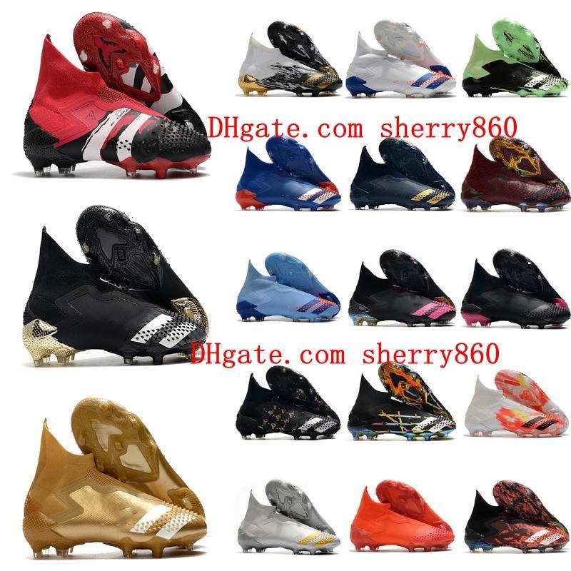 2020 de alta calidad para hombre zapatos de fútbol depredador mutador 20+ fg de fútbol depredador 20 botas de fútbol alto tobillo scarpe calcio nuevo