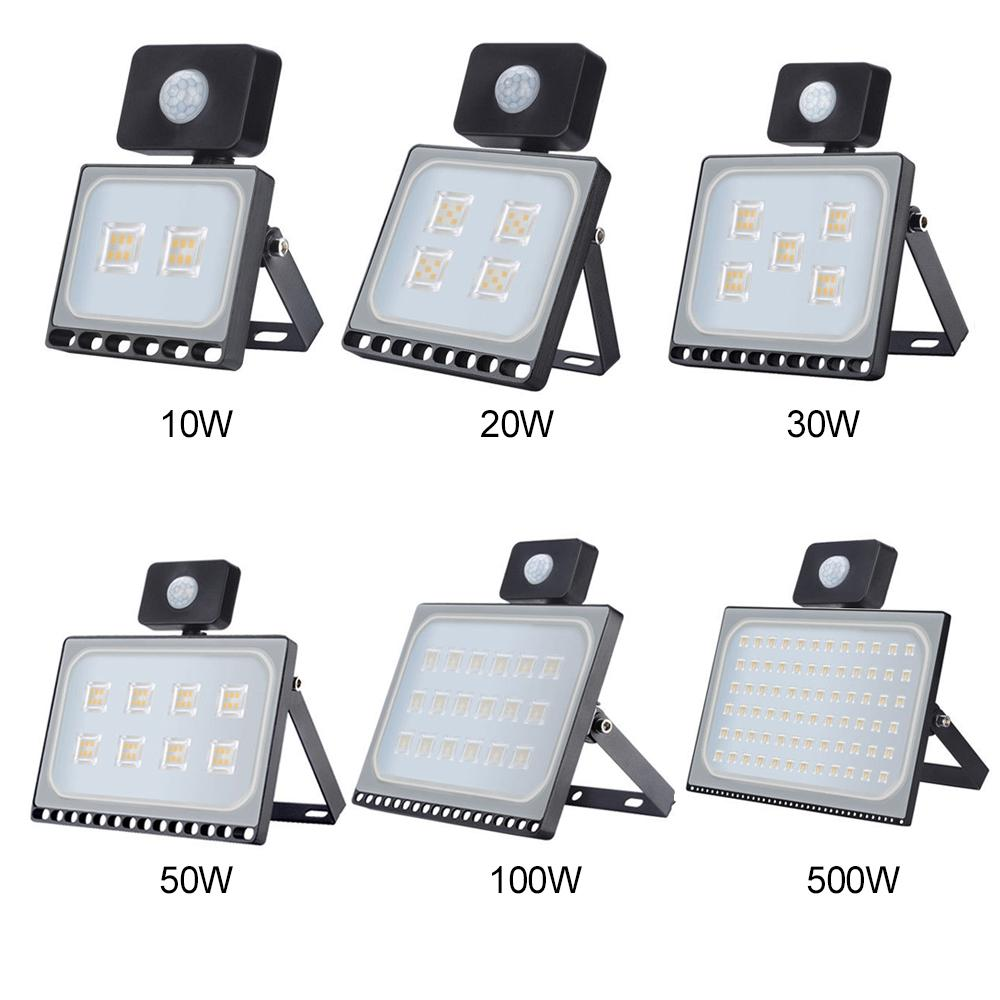 Außenbeleuchtung 10W 20W 30W 50W 100W LED-Scheinwerfer PIR-Bewegungssensor Aluminium ultradünner LED-Reflektor AC220V LED-Flutlicht