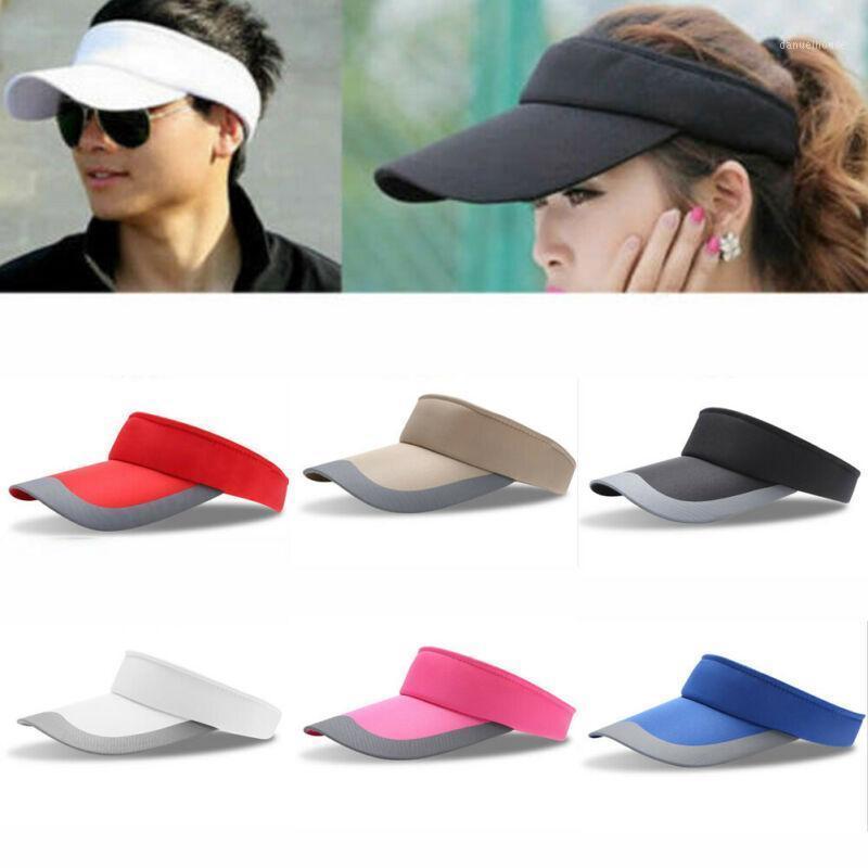 2020 Nouveau Solaire Unisexe Sun Visor Chapeau Sunscreen Top Top Golf Tennis Caps Casual Extérieur1