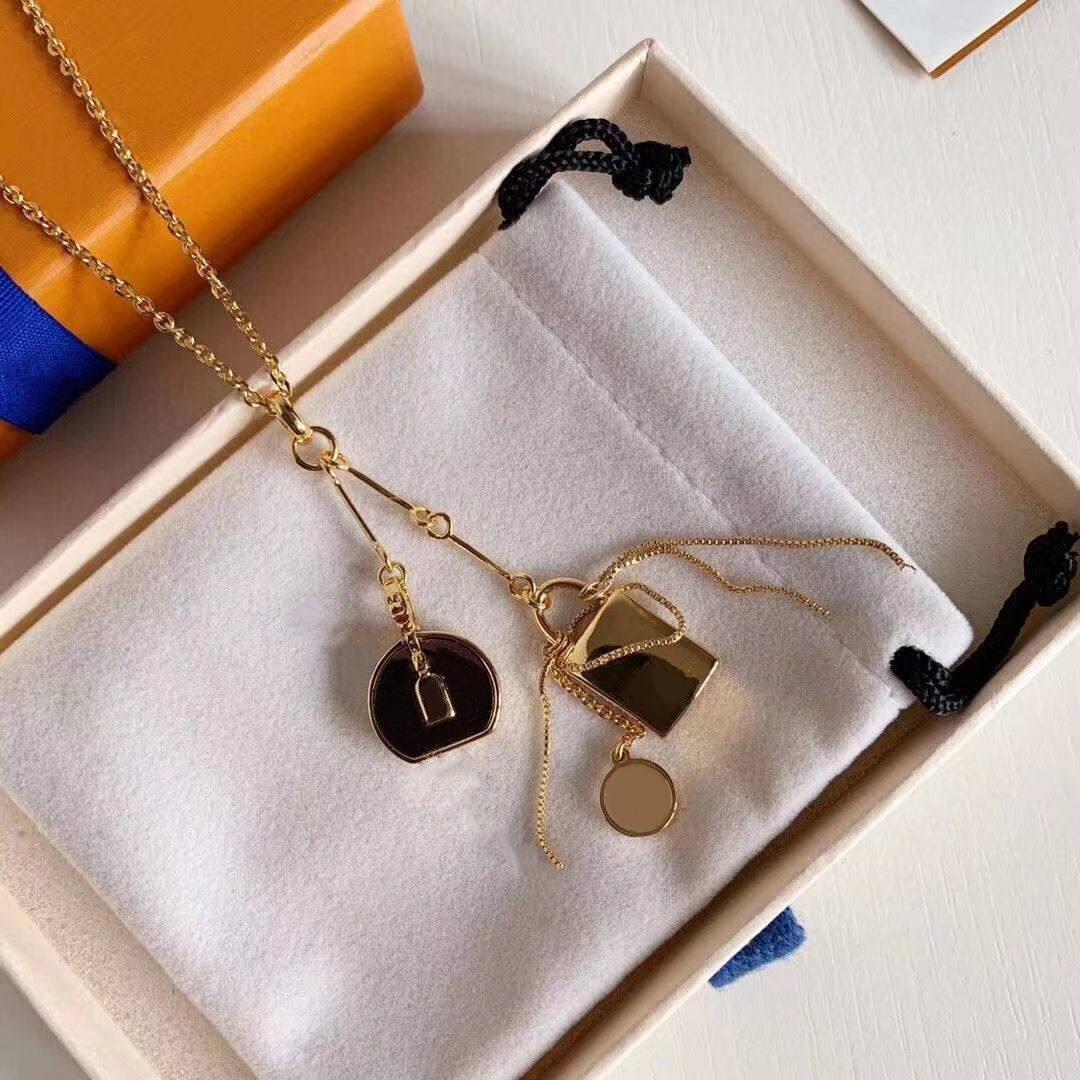 Collane a sospensione di vendita calda collana di moda per uomo donna collane pendente gioielli ciondolo altamente qualità 5 modello opzionale