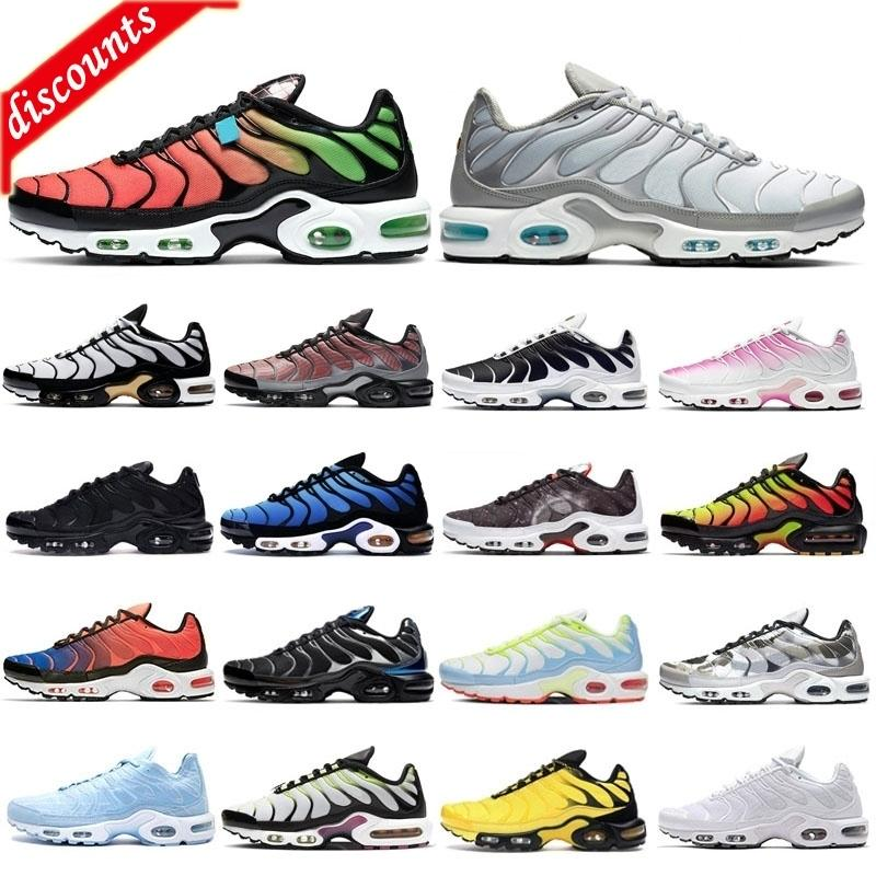 2021 TN Plus Correndo Tênis para Mens Fumo Cinza Hyper Psychic Blue Fury Oreo Roxo Womens Worldwide Sports Sneakers Trainers 36-45