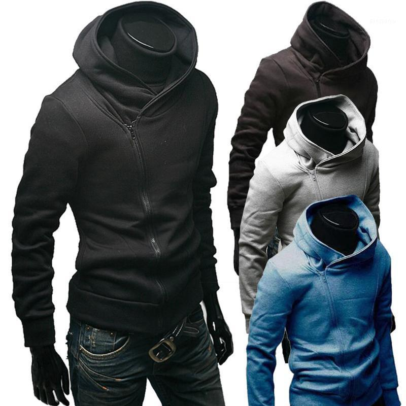 Hot Inclined Zipper Hooded Hoodie Fleece Jacket Coat Sports Suit Casual Fashion Men's Clothing MSK661