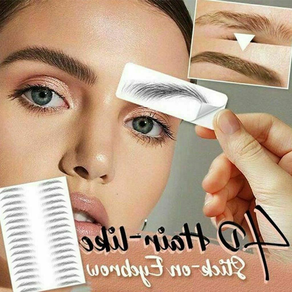 Magic 4D Hair-like Eyebrow Tattoo Sticker False Eyebrows Waterproof Lasting Makeup Water-based Eye Brow Stickers