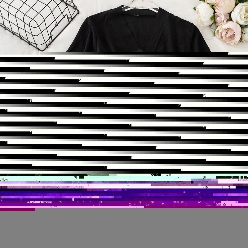 Manga corta con cuello en V Cultivo de cuello en V y faldas de cintura alta moda Mujeres Verano 2 piezas Conjuntos Nuevo 2020 Señoras Sólido Solido Traje Sistema Coreano1