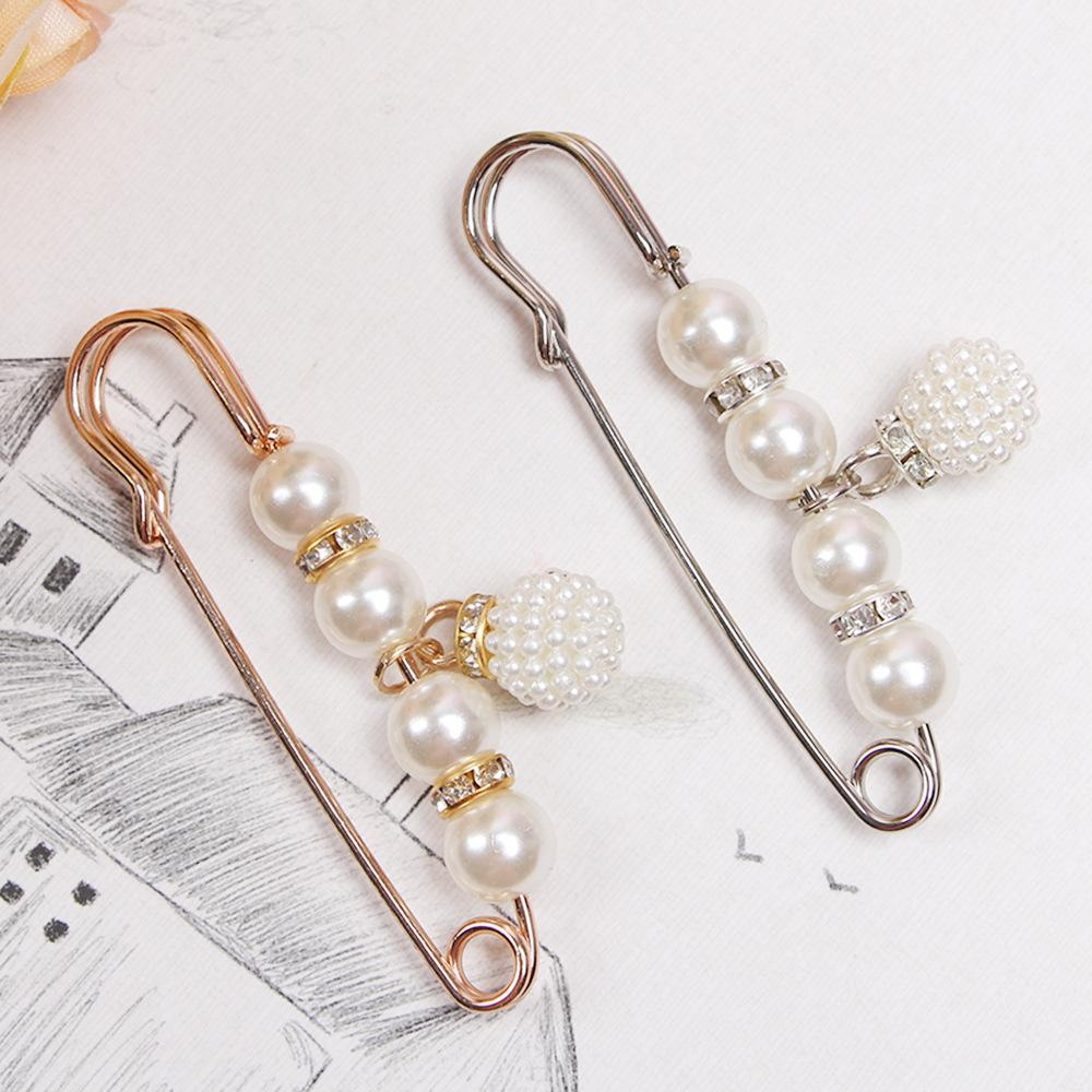 Women's Fashion Brooch Pearl Brooch Pins Badge Sweater Coat Decorative Jewelry Pin Brooches for Women