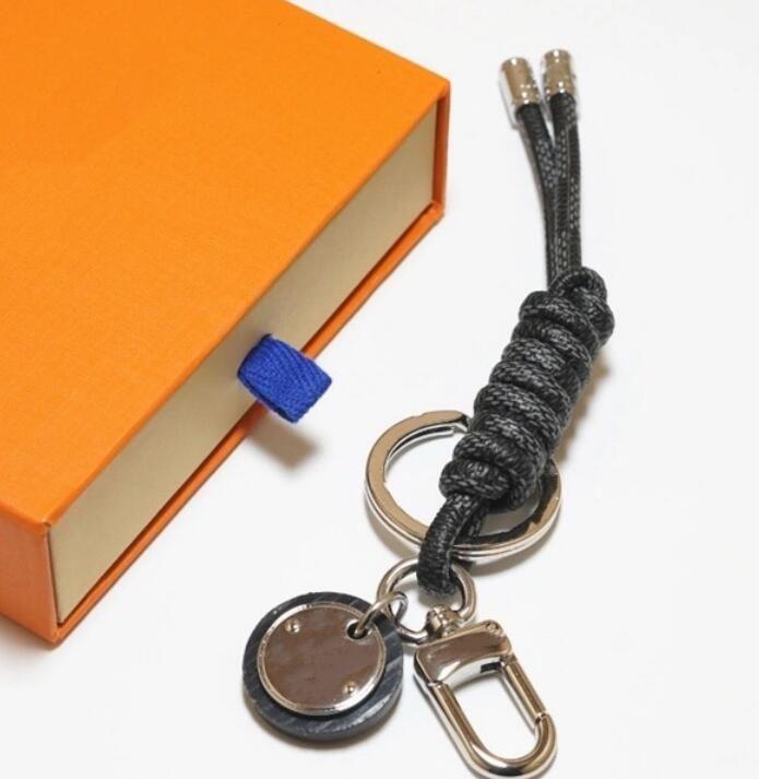 Designer Unisexe Mode Lettre de la corde Clé Chaîne Chaîne Accessoires Key Ring Lettre Porte-clés de Luxe Car Keychain Bijoux Cadeaux avec boîte