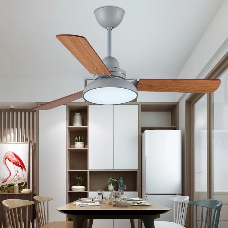 Ventilador de teto moderno com led 42 polegadas fã de teto luz lâmina de fan lâmina de refrigeração com controle remoto tavan pervanesi