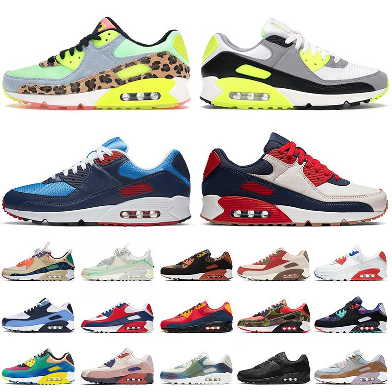 nike air max 90 airmax 90 nike 90 Top Qualité Nik Dancefloor Green Og Volt Volt Shoes Photo Blue Mesh Blanc Black Dio Femmes Femmes Baskets Sneakers