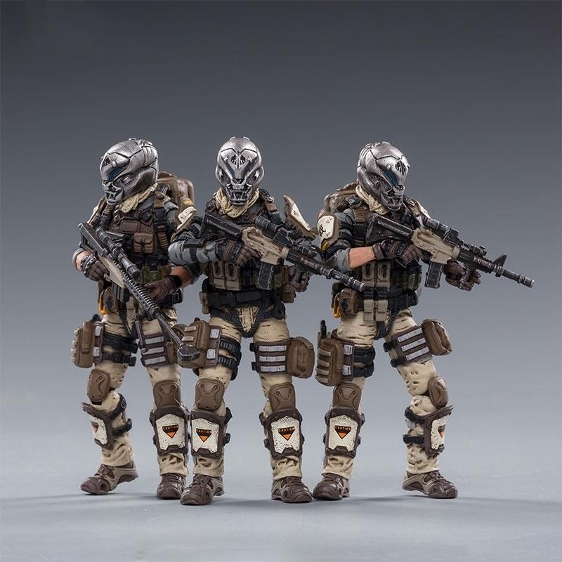 1/18 Joytoy Action Figures Hell Skull Пустынные Череп Череп Поле Squad Военный Солдат Рисунок Модель Игрушки Коллекция Игрушка 201202