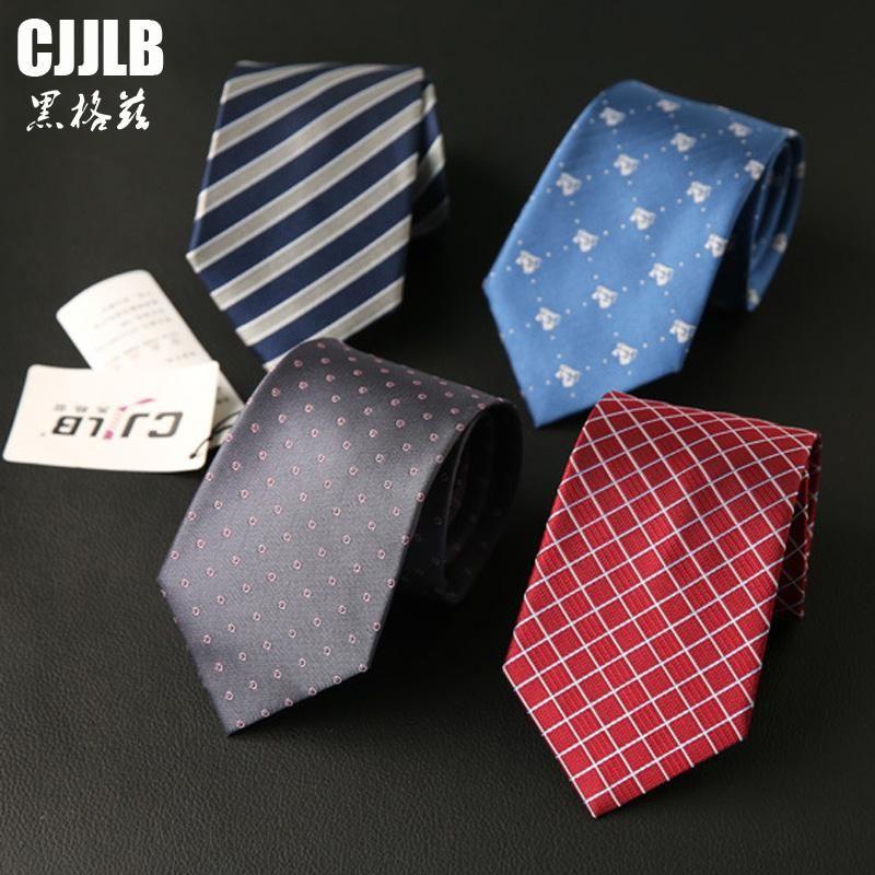 Jakarlı Örgü 8 CM Bağları 2020 Yeni Marka Adam Moda Nokta Çizgili Kravatlar Hombre Gravata Kravat Klasik Iş Casual Kravat Erkekler için