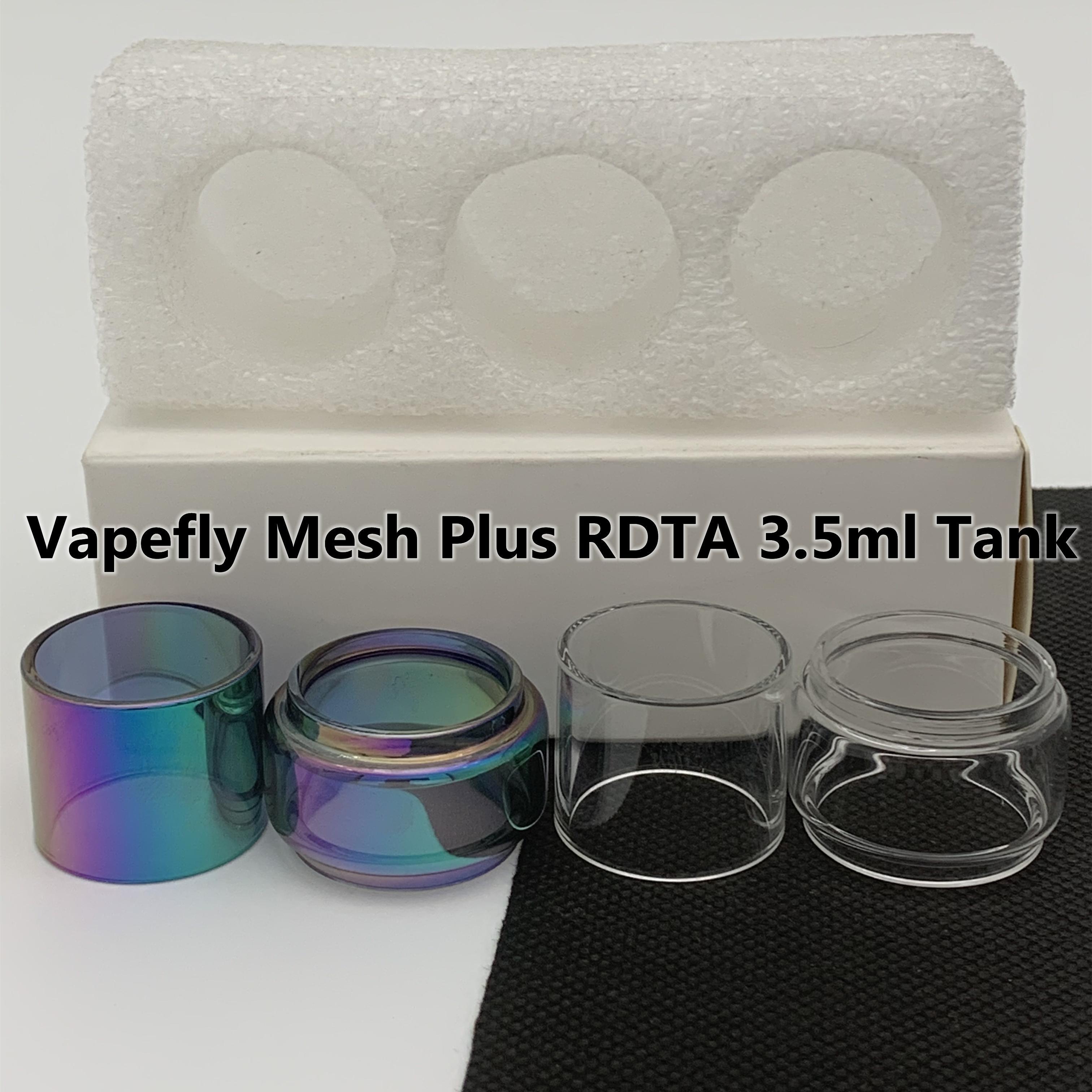 VAPEFLY MESH PLUS RDTA 3.5ml serbatoio normale tubo normale tubo di ricambio tubo di vetro dritto standard 3pcs / box pacchetto al dettaglio