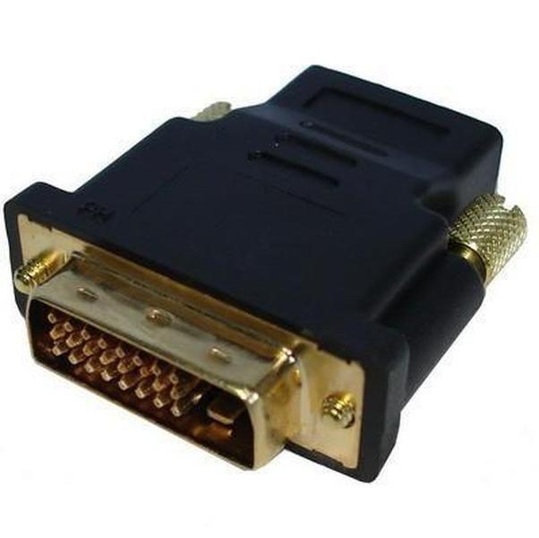 500 шт. DVI-D Двойная ссылка мужчина 24 1 PIN-код на HDMI женский 19 PIN-адаптер HDMI к DVI Gold Connector для HDTV PC LCD для Xbox 360 для PS3