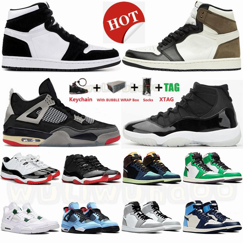 Eur 47 With Box 1 1s Dark Mocha White UNC Jumpman Basketball Shoes 4 4s Bred Paris Mens Sneakers 11 11S 25th Anniversary Womens Trainers