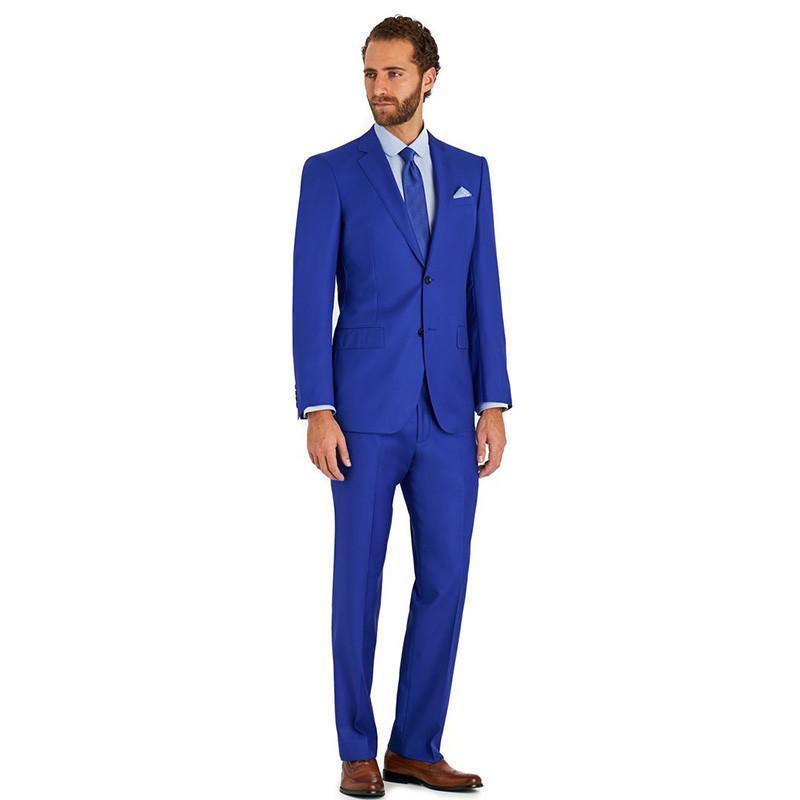Пользовательские синий костюм мужские костюмы свадебный костюм свадьба Groom Tuxedo формальный лучший мужчина выпускной
