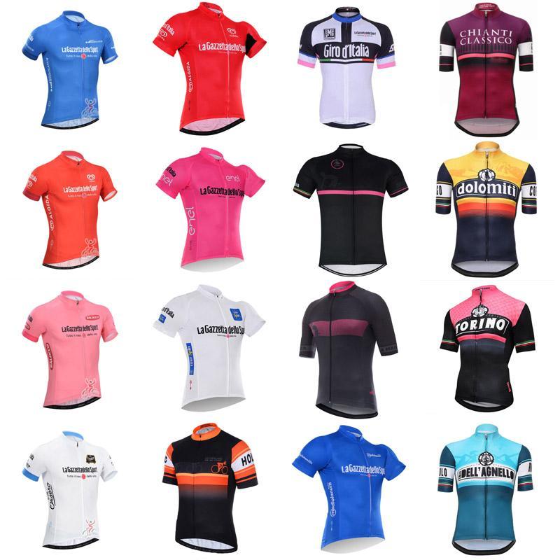 Tour de Italie Équipe Vêtements de cyclisme Été Vélo Jersey Chemise à vélos Respirant Courtes à manches courtes Vêtements de vélo TopsSwear 102033