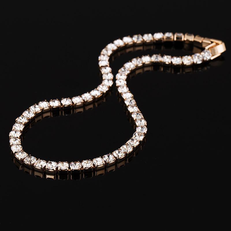 Nuova collana del colletto di cristallo di cristallo delle donne che ha ghiacciato la collana del diamante del tennis per gioielli di moda di compleanno di nozze