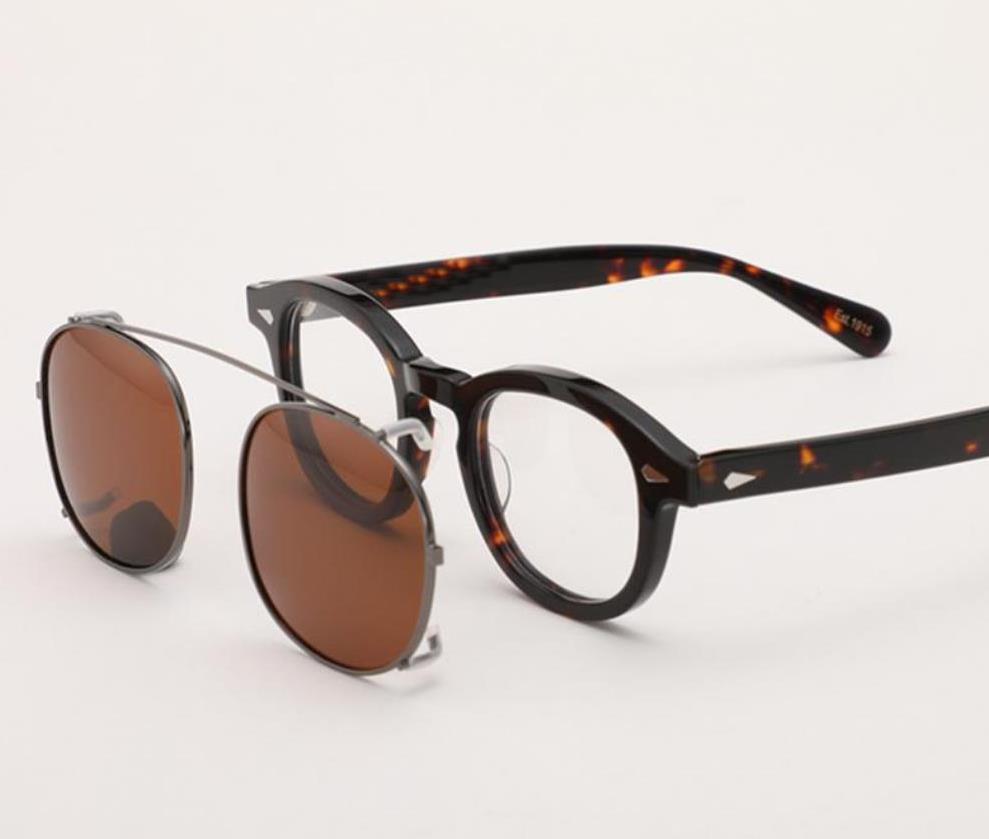 Clip Top Gläser Polarisierte Gläser Acetat Frauen Rahmen Johnny Qualität Depp Lemtosh Männer Sonnenbrille Vintage auf Objektiv WDFRL