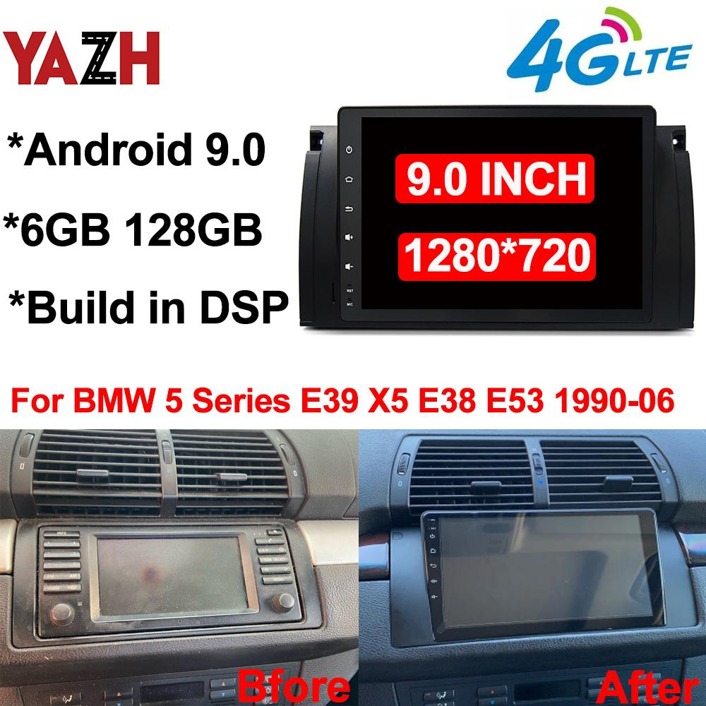 "6GB 128GB Auto Radio GPS الملاحة ل BMW 5 Series E39 X5 E38 E53 1990-2006 Android 9.0 رئيس وحدة DSP Car DVD ستيريو 9.0 ""عرض"