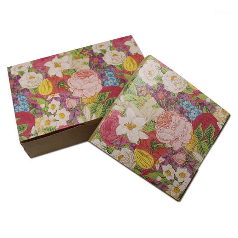 25 pcs / lot imprimant brun kraft papier boîte de mariage cadeau cadeau de cadeau de bonbon emballage boîtes de rangement favorisant soap bijoux emballage papier boîte1