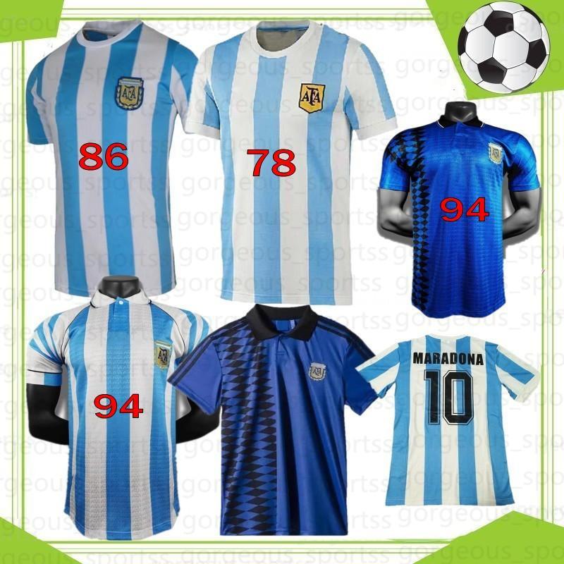 Comemorar Maradona Retro 1986 1994 1978 Napoli Napoles Boca Argentina Juniors Maradona Futebol Jerseys Camisa de futebol Vintage Classic