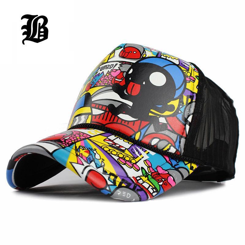 [FLB] Großhandel Erwachsene Mode Unisex Classic Trucker Baseball Mesh Cap Snapback Hut Vintage Frauen Männer Gorras Hip Hop Baseballmütze 201026