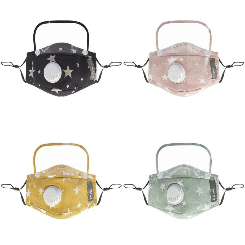 Maskeler Çocuk Yüz Maskesi Kalkan Ile Çıkarılabilir Yıkanabilir Kullanımlık Temizle Maske PM2.5 Toz Geçirmez Pamuk Yüz Ağız Maskesi ile 2psc Fi 11 J2