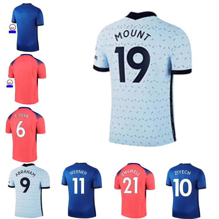 2021 Chels 29 Havertz 11 Werner 21 Chilwell 10 Pulisic Kanté 22 Ziyech Silva Soccer Jerseys 2021 Camiseta Kits قبل مباراة قمصان بولو