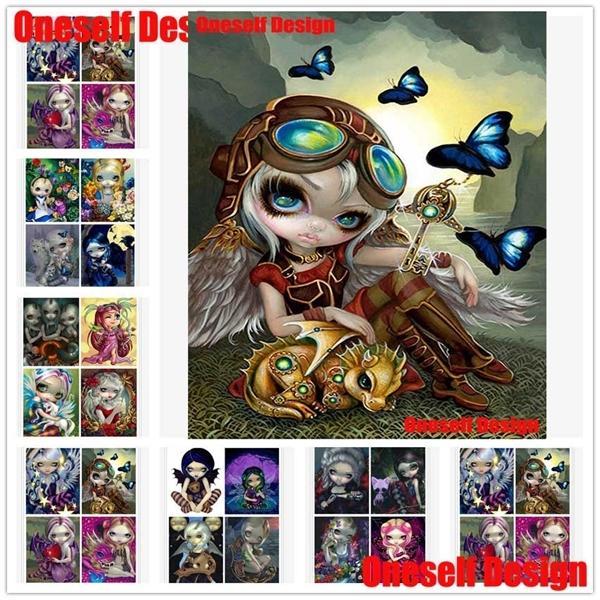 2019 USA Top Popular5D Bordado Lindo Linda chica Mosaico Dibujos animados 5d Diamante venta de pintura 0930