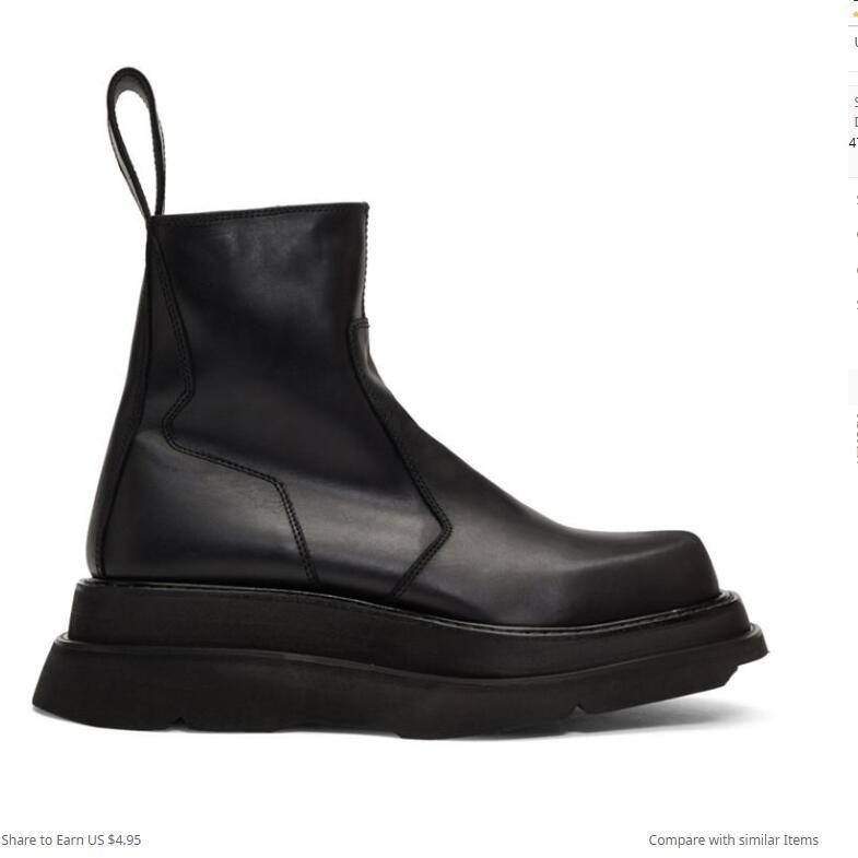 Высота Увеличение сапоги для мужчин Натуральная Кожа Популярные Мужские Повседневные Платье Сапоги Мода Толстые подошвы Сапоги Ботинки Обувь