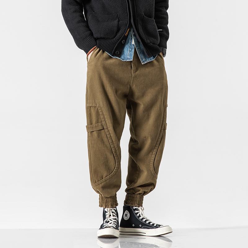 Men's Pants Male Hip Hop Cone Pant Jogger Sweatpants Trousers Men Japan Style Streetwear Casual Cargo Pants1